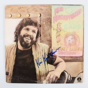 Kris Kristofferson Signed Album Cover - COA PSA/DNA