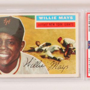 1956 Topps Willie Mays Graded Card #130 - PSA 4