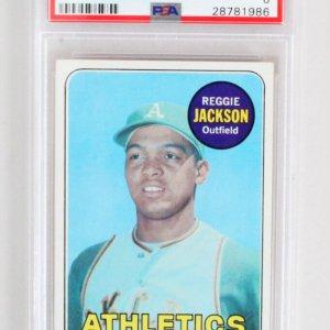 1969 Topps Reggie Jackson Graded RC Card #260 - PSA 6