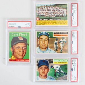 1956 & 1958 Topps Graded Baseball Card Lot (4) - PSA