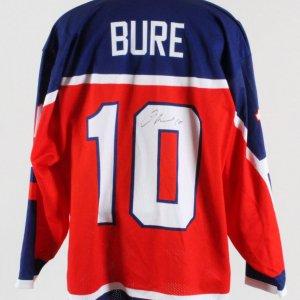 Pavel Bure Signed Jersey Russian Hockey Team - COA JSA