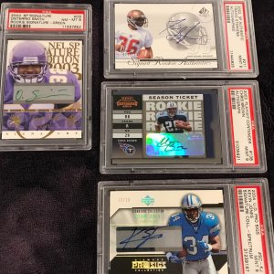 2002-2004 Football Autographed Signature Cards PSA 9