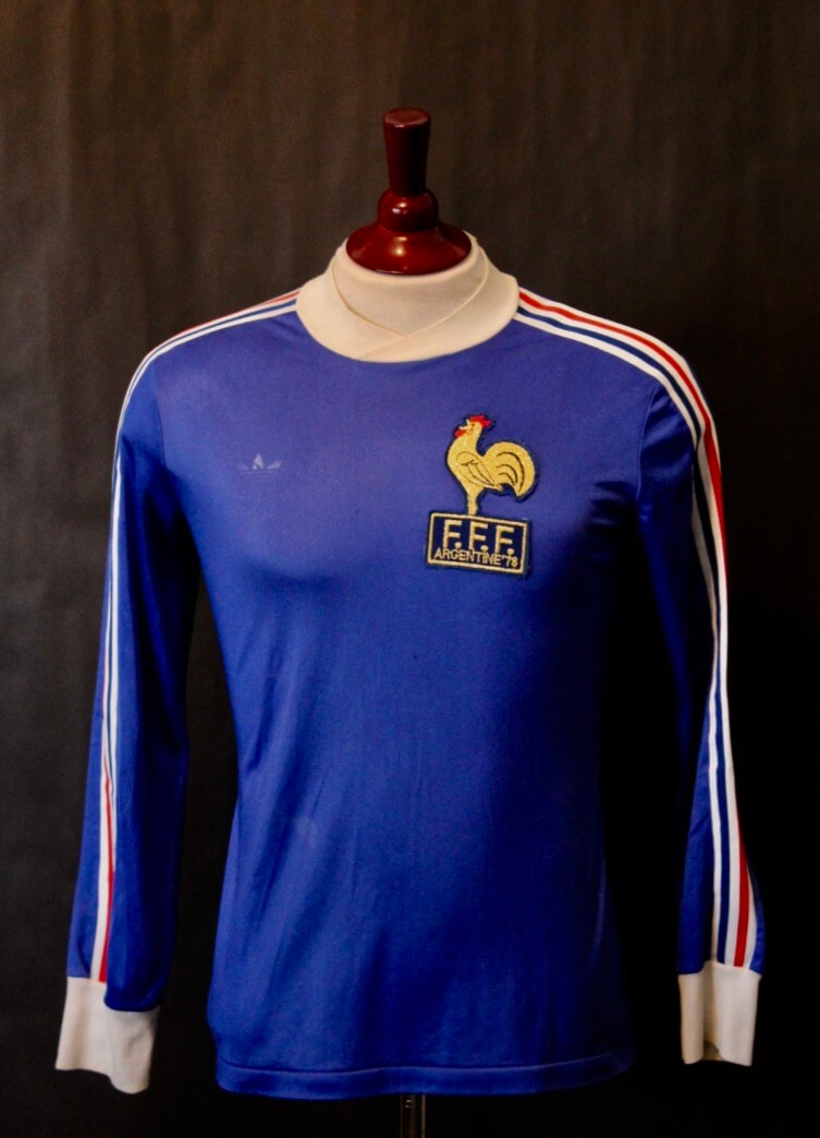 82451be040e A Michel Platini Game-Issued  15 France International Home Shirt. 1978 FIFA  World Cup Argentina.
