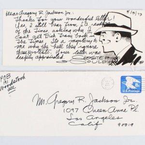 Chester Gould Signed Letter - COA JSA