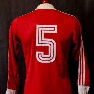 A Franz Beckenbauer Game-Used #5 FC Bayern Munich Home Shirt. Circa Mid-1970's.