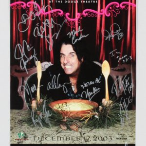 Alice Cooper Multi-Signed by 16 Poster - COA JSA