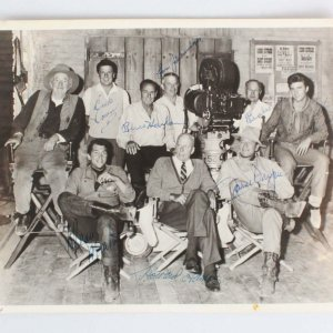 John Wayne Signed Photo-Rio Bravo Cast Signed w/Negative - COA JSA