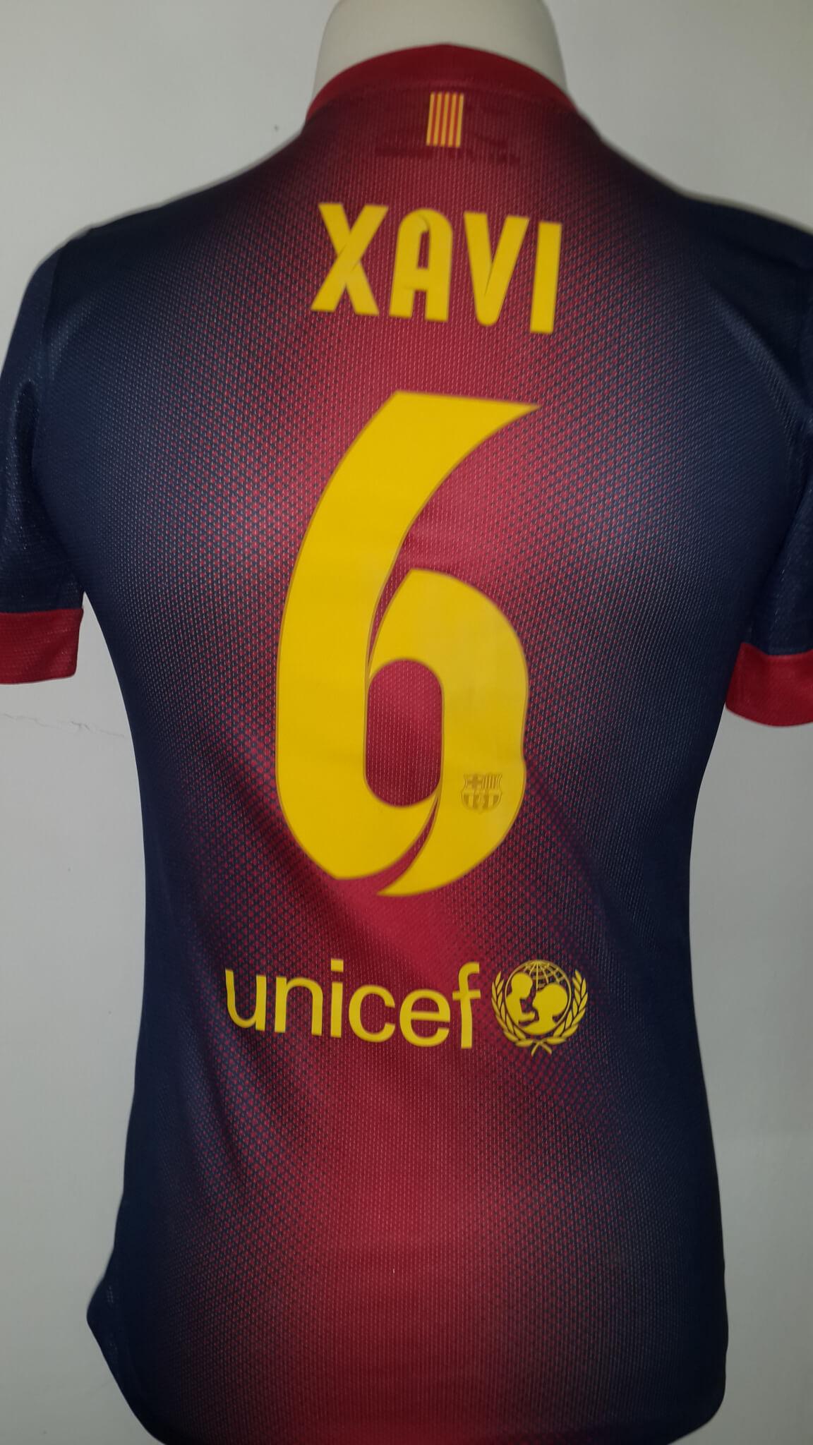 new styles 66ea9 032d7 Xavi Hernández Game-Used #6 FC Barcelona Home Shirt 2012/13 Spanish La Liga  Season | Memorabilia Expert