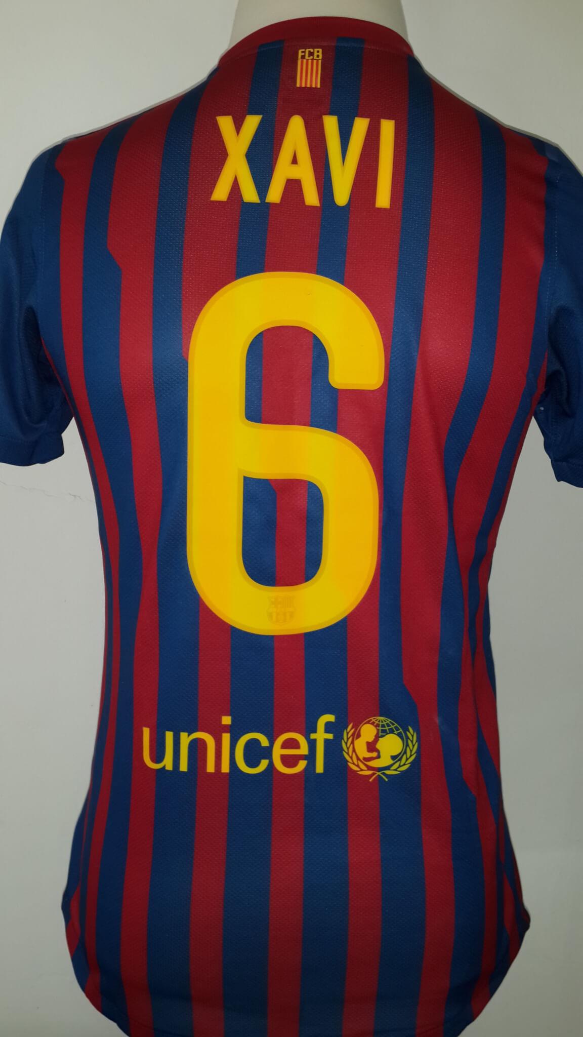 5ea65da6c A Xavi Hernández Game-Used  6 FC Barcelona Home Shirt 2011 12 Spanish Copa  del Rey Final Match