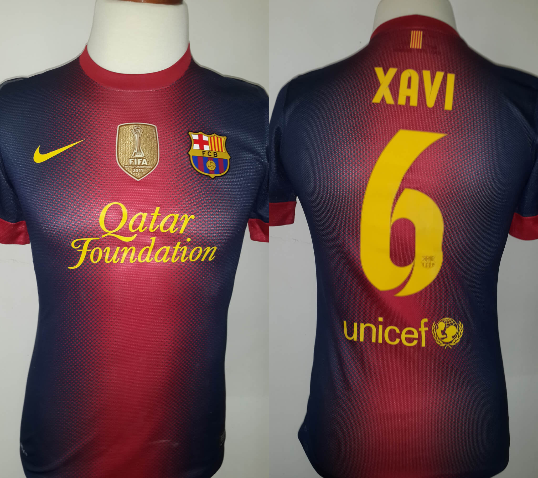 5860d752d Xavi Hernández Game-Used  6 FC Barcelona Home Shirt 2012 13 Spanish La Liga  Season