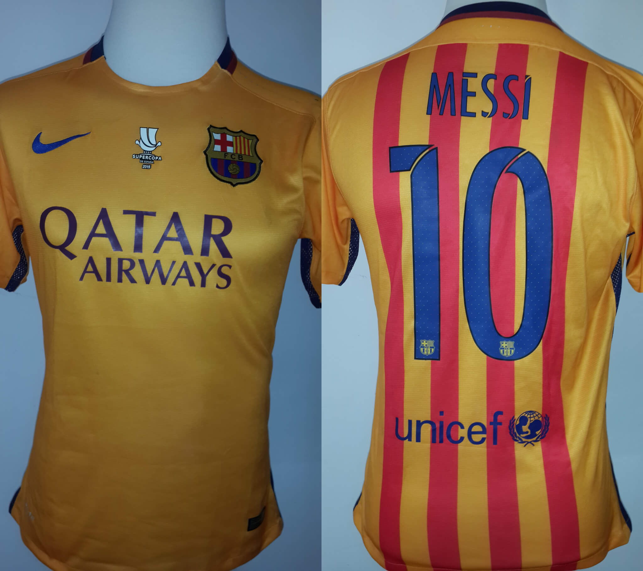 new products 5d6c0 81a4b A Lionel Messi Game-Used #10 FC Barcelona Away Shirt 2014/15 Spanish  Supercopa de España