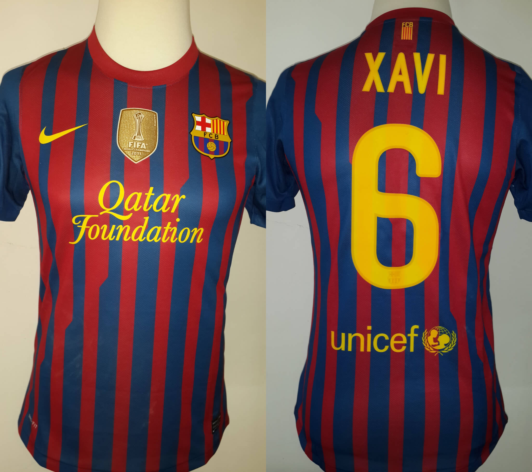 A Xavi Hernández Game-Used  6 FC Barcelona Home Shirt 2011 12 Spanish Copa  del Rey Final Match  47365ad11