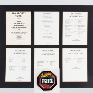 UFC 9 Motor City Madness Program Production Sheets RARE  w/ Credentials