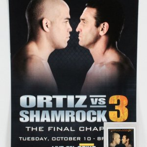 UFC Fight Night: The Final Chapter Ortiz vs. Shamrock 3 Poster w/ Credentials