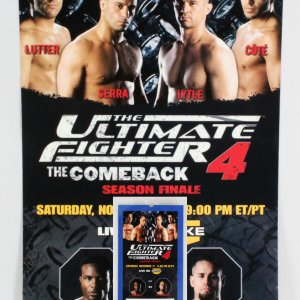 The Ultimate Fighter 4 On-Site Poster W/ Credentials
