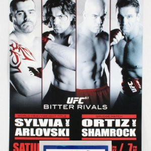 UFC 61 On-Site Poster Bitter Rivals W/ Credentials