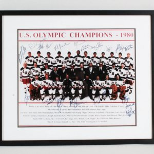 1980 USA Hockey Team Multi-Signed Photo - COA JSA