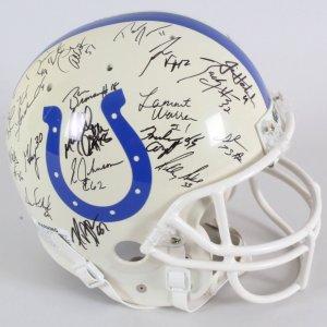 1995 Indianapolis Colts Team-Signed Helmet - COA JSA