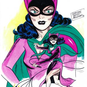 Sheldon Moldoff Art Original Catwoman Watercolor