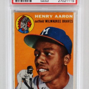 1954 Topps Henry Aaron Graded RC Card - PSA