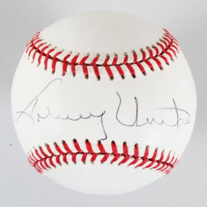Johnny Unitas Signed Baseball Colts - COA JSA