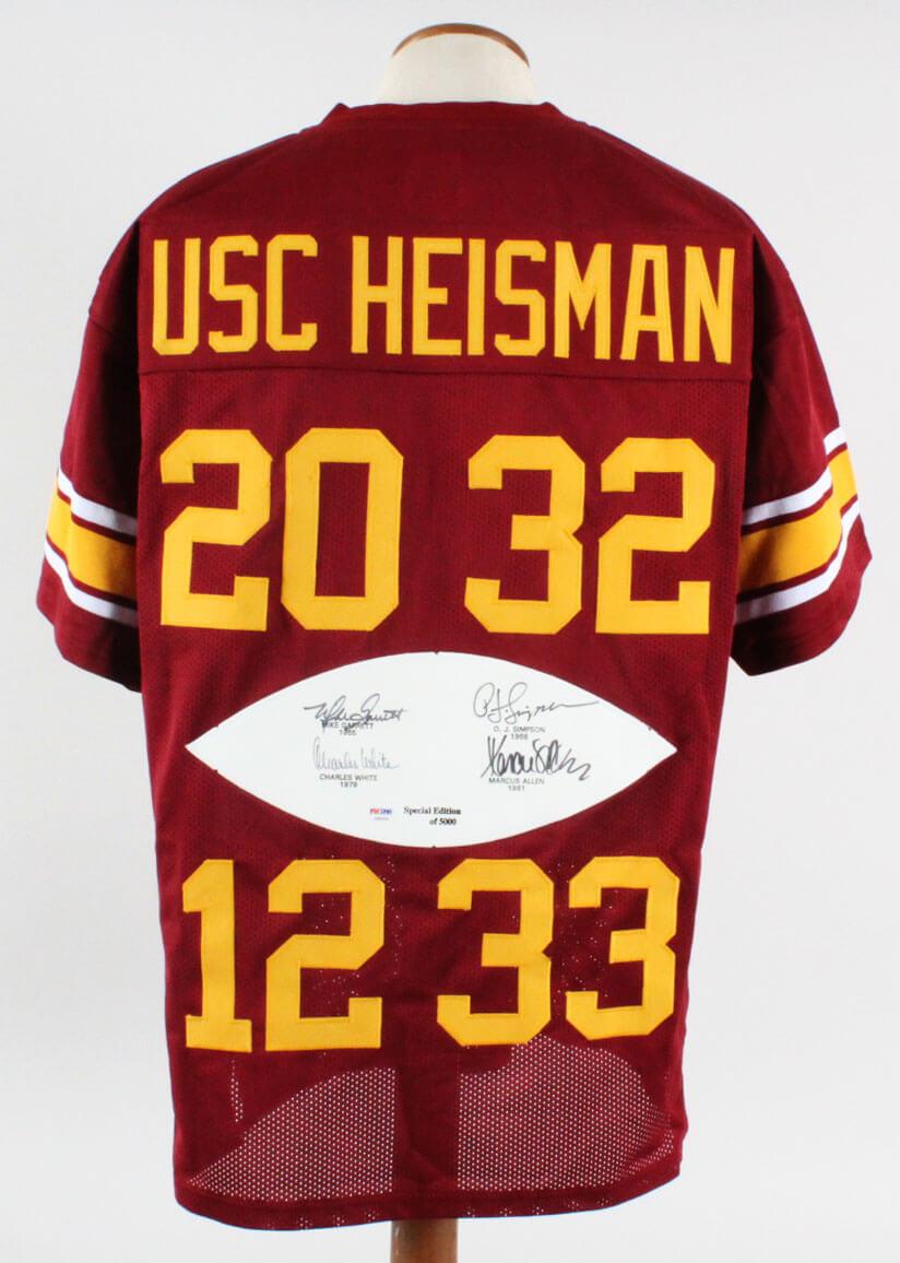 pretty nice 93e4e 9d8ef USC Trojans Multi-Signed Jersey Heisman Trophy Winners - COA PSA/DNA