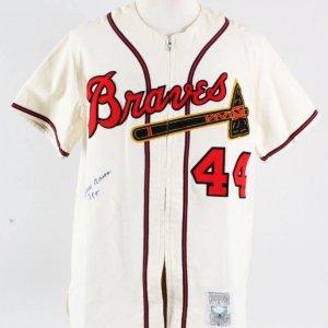 Hank Aaron Signed Jersey Braves - COA JSA