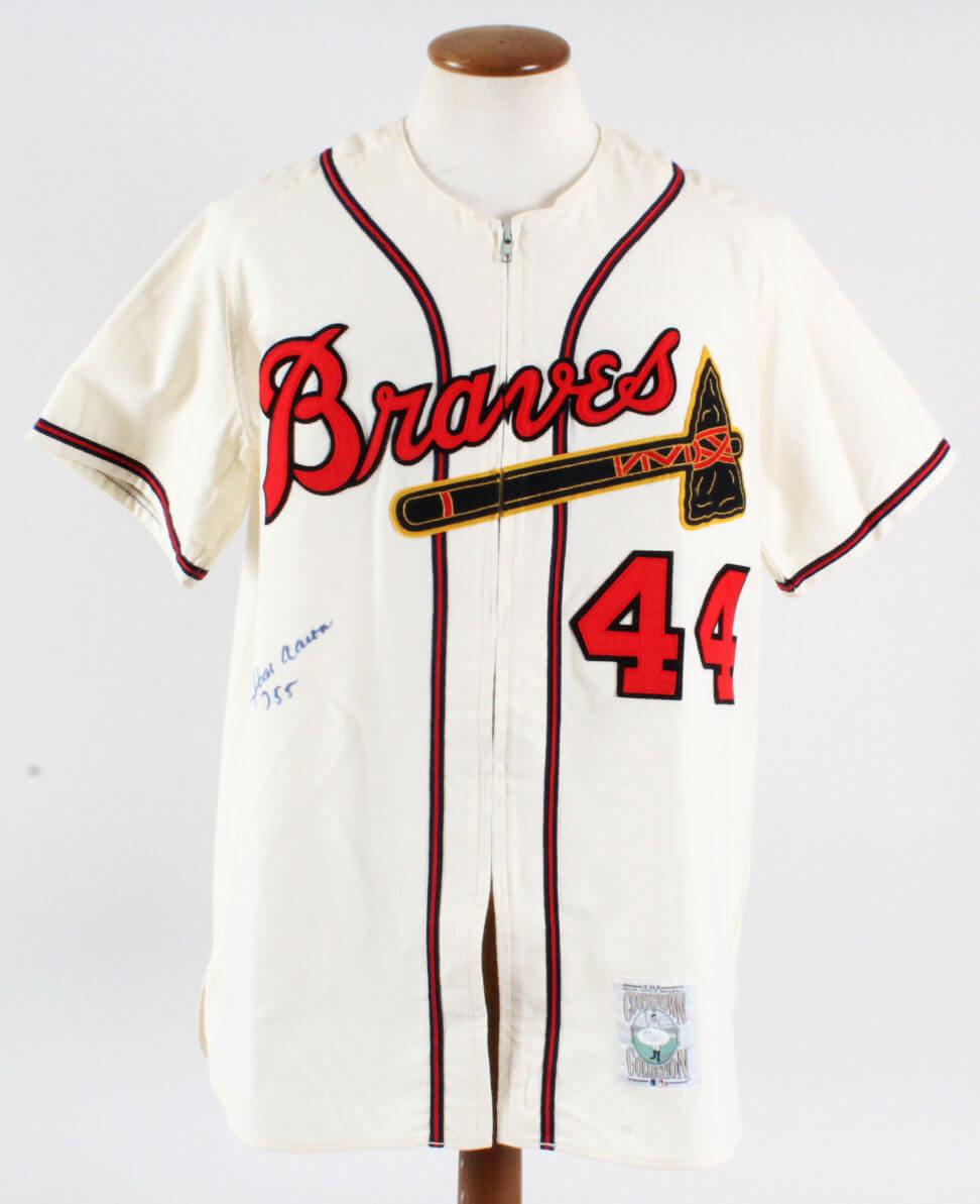 11ff2c1e Hank Aaron Signed Jersey Braves – COA JSA | Memorabilia Expert