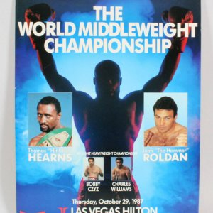 1987 Hearns Vs. Ronald Fight Poster