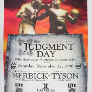 1986 Berbick vs. Tyson Fight Poster