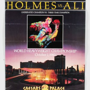 1980 Ali vs. Holmes Fight Poster