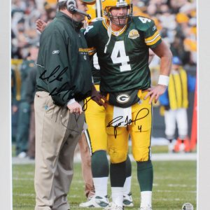 Brett Favre & Mike McCarthy Signed Photo Packers - COA