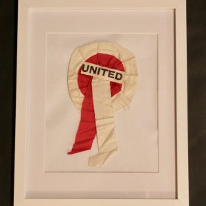 An Original Manchester United 1958 FA Cup Final Rosette.  MUFC v Bolton Wanderers 5/3/1958 Wembley.