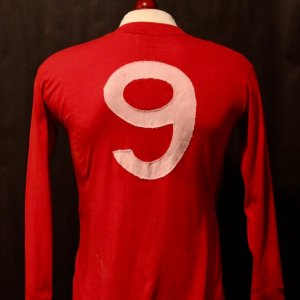 A Sir Bobby Charlton Game-Used #9 England Shirt & Cufflinks.  Circa 1960's.