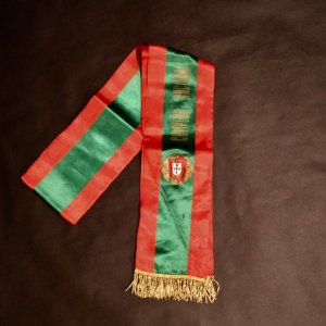 An S.L. Benfica Players (Eusebio) Portugese Winner's Champion Sash.  1966/1967 Season.