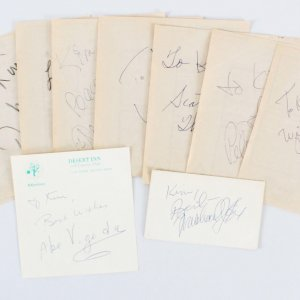Celebrity Signed Vegas Cuts (9) - Michael J. Fox, Don Knotts etc. - COA JSA
