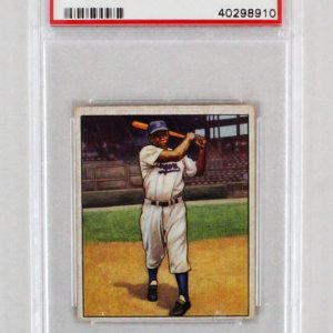 1950 Bowman Jackie Robinson #22 Card Graded PSA EX 5