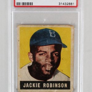 1948 Leaf Jackie Robinson #79 Card Rookie RC Graded PSA PR-FR 1