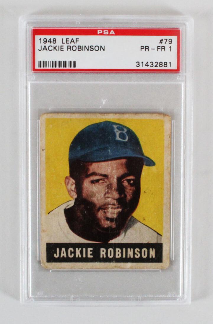 1948 Leaf Jackie Robinson 79 Card Rookie Rc Graded Psa Pr Fr 1