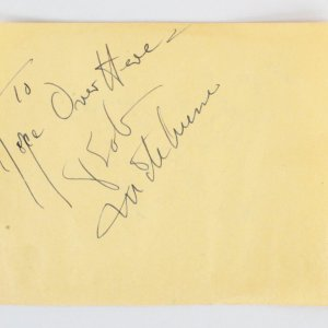 Robert Mitchum & Wallace Ford Signed Cut - COA JSA