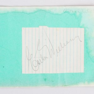 Esther Williams Signed Cut Album Page - COA JSA