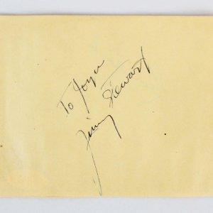 Jimmy Stewart & Leon Ames Signed Cut - COA JSA