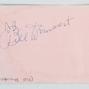 William Demarest & Joan Bennett Signed Cut Album Page - COA JSA