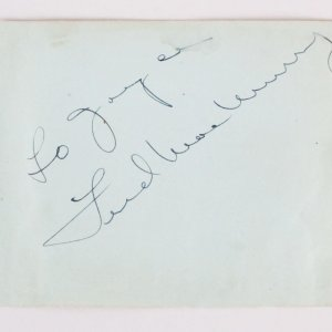 Fred MacMurray & Evelyn Keyes Signed Cut - COA JSA