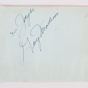 Guy Madison & Wallace Beery Signed Cut - COA JSA