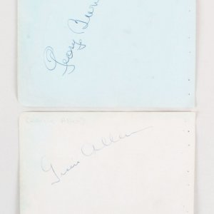 George Burns & Gracie Allen Signed Cuts - COA JSA