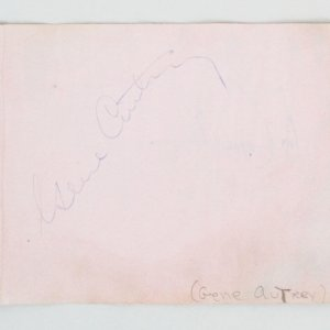 Gene Autry & Greer Garson Signed Cut Album Page - COA JSA