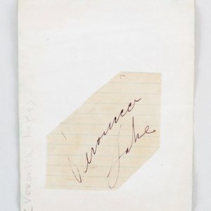 Veronica Lake Signed Album Page - COA JSA