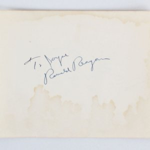 President Ronald Reagan Signed Album Page - COA JSA