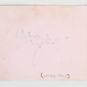 Cary Grant Signed Album Page - COA JSA